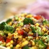 Broccoli Red Quinoa Salad with Corn and Black Beans