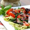 Zucchini Pasta and Vegetables with Sun-dried Tomatoes